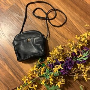 Etienne Aigner small black leather cross body